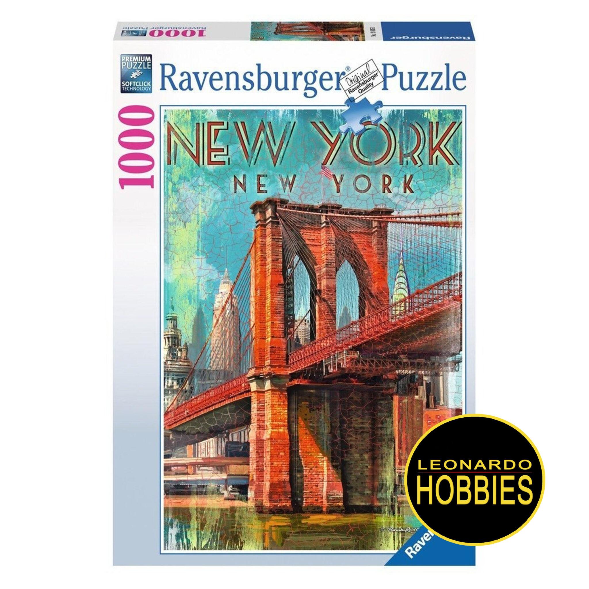 Retro New York 1000 Piezas Ravensburger 19835