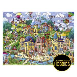 Happytown Berman de 1500 piezas Heye 29744, leonardohobbies, pecosbill,rosario puzzles heye