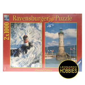 Lighthouses in Brittany 2x1000 Piezas Pack Ravensburger 16797