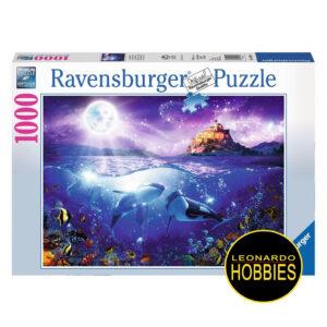 Whales in Moonlight 1000 Piezas Ravensburger 19791