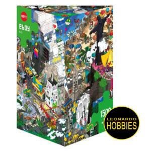 LEONARDOHOBBIES,PUZZLES,ROSARIO,ROMPECABEZAS,HEYE,CARICATURAS,DIVERTIDOS,COMICS,ROSARIO,ARGENTINA,ROMPECABEZAS TRIANGULARES,EBoy - Rio de 1500 piezas Heye 29575