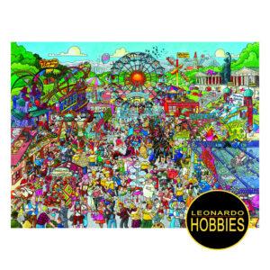 LEONARDOHOBBIES,PUZZLES,ROSARIO,ROMPECABEZAS,HEYE,CARICATURAS,DIVERTIDOS,COMICS,ROSARIO,ARGENTINA,ROMPECABEZAS TRIANGULARES,Christoph Schöne - Oktoberfest de 1500 piezas Heye 29842